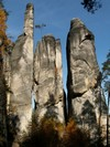 Rock towers are the dominant feature of the castellated rock towns